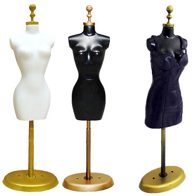 Doll Display Holder Dress Clothes Mannequin Model Stand For Doll Black