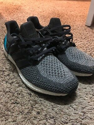 045abfe39acbb Adidas Ultra Boost 2.0 Shock Mint Grey White PK Mens Size 13 Rare AQ5931