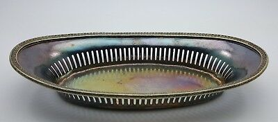 VINTAGE PALMER HOUSE HOTEL CHICAGO REED & BARTON SILVER SOLDERED OVAL TRAY c1925