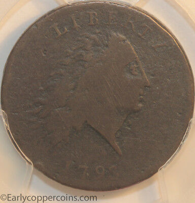 HCH 1793 S3 R3- Chain Large Cent AMERICA Reverse PCGS VG8 EAC 2013 LOT 103