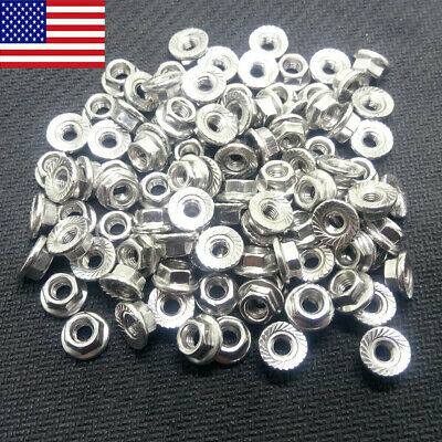 Hex Serrated Flange Lock Nut M3/M4/M5/M6/M8/M12 Stainless Steel 304 US STOCK