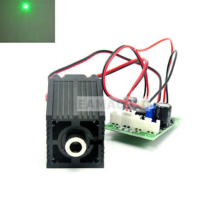 Focusable 532nm 80mW Green Laser Diode Dot Module 12V w/TTL & Driver Fan Cooling