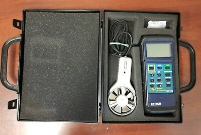 Extech 407113 Heavy Duty CFM Thermo-Anemometer In Case c-zzz