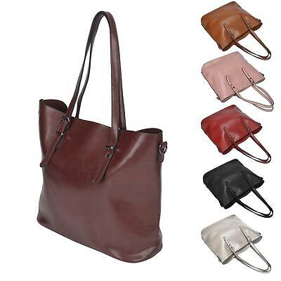 Women fashion Shoulder Bag Tote Large Handbag Office Ladies Bags PU Leather UK