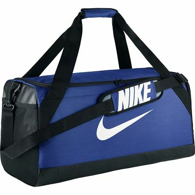 NWT Nike Brasilia Medium Duffel Bag BA5334-480 New Blue Black Duffle Gym Bag 8041f21bc0ae7