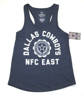 NFL Dallas Cowboys Womens Distressed Retro Fashion Tank Top Sleeveless shirt 99b5a13a1