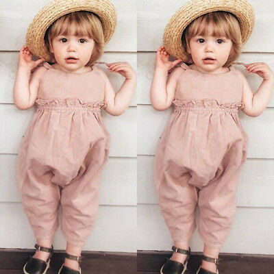 Toddler Baby Girls Bodysuit Strap Romper Jumpsuit Outfits Summer Sunsuit Clothes