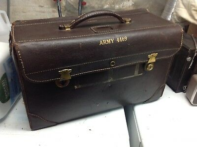 Vintage US Army Air Force 4469 Jepco Flight Case Model 55-1 Leather
