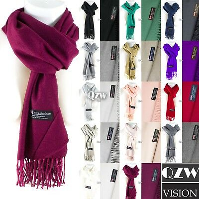 Womens Men 100% Cashmere Winter Warm Soft Scarf Scotland Made Scarves Wrap Wool