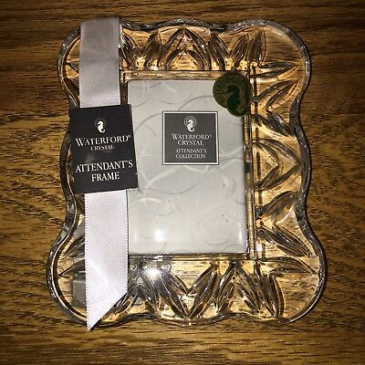 NEW Waterford Irish Crystal Picture Frame~Attendants Collection~2x3 new
