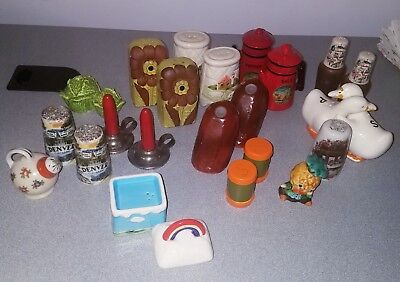 Lot of Vintage Antique Collectible Salt and Pepper Shakers