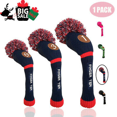 Golf Pom Pom Headcover 1 Pcs Driver Fairway Hybrid Golf Club Head Covers AU Gift