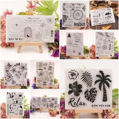 Various Silicone Clear Stamp Transparent Rubber Stamps DIY Scrapbooking Crafts