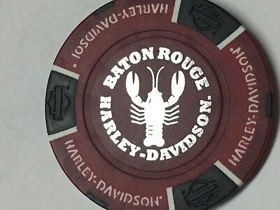 Harley Poker CHIP   BATON ROUGE HD   BATON ROUGE, LA    RED & BLACK