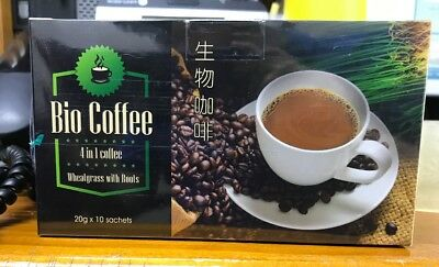 Bio Coffee 4 In 1 Coffee Whealgrass With Roots 20g X 10pcs