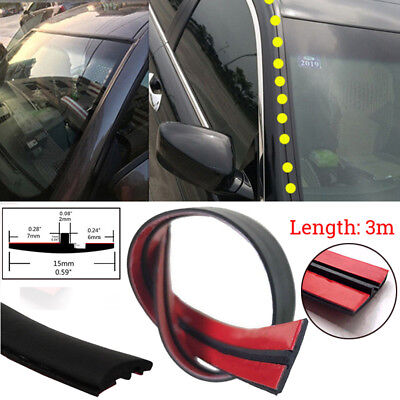 Motor Rubber Seal Strip Trim For Car Front&Rear Windshield Sunroof Weatherstrip