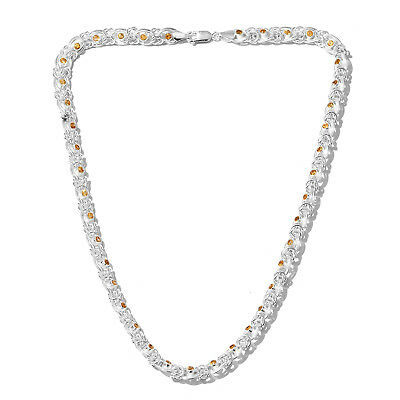 """925 Sterling Silver Citrine Necklace for Women & Girls 20"""""""