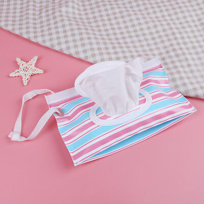 Outdoor travel baby newborn kids wet wipes bag towel box clean carrying case CH