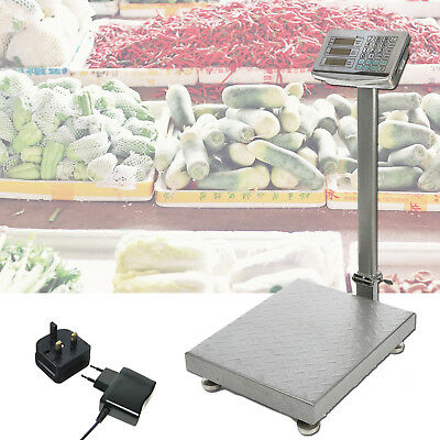 New Heavy Duty 660LB 300KG Industrial Platform Postal Weighing Scales UK