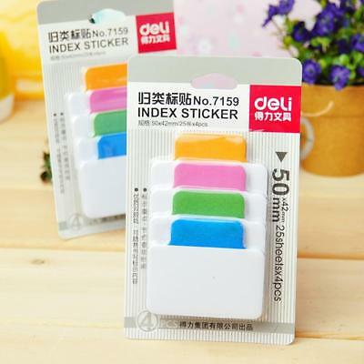 Sticky Notes Notebook Memo Paper Sticker Pad Bookmark Notepad Stationery AU