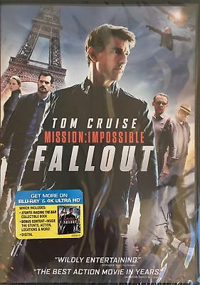 MISSION: IMPOSSIBLE FALLOUT (2018, DVD) {{AUTHENTIC DVD READ}} NEW Free Shipping