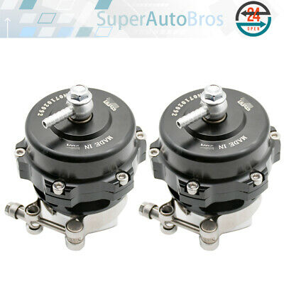 2x 50MM ALUMINUM TURBOCHARGER For Tial 35 PSI BOOST FLANGE&V-BAND BLOW OFF VALVE
