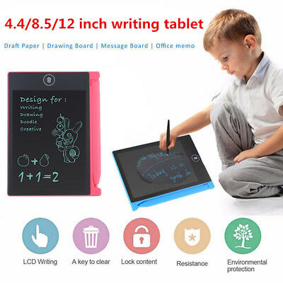 4.4/8.5/12'' LCD Writing Drawing Tablet Graphics E-Writer Boards Painting Pad
