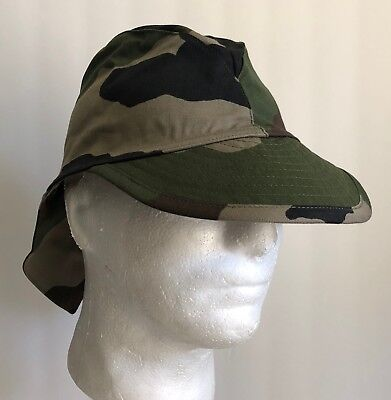 French Military CCE-Camo Swallowtail Neck-Flap Field Cap / Hat - Camouflage NOS