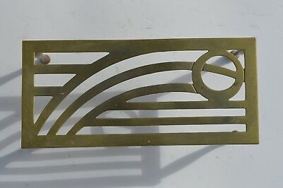 Fantastic Antique Bronze/brass Table Top/fireplace Trivet Stand Abstract Design