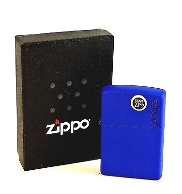 BRAND-NEW Royal Blue with Zippo Logo Lighter In Box, # 229ZL