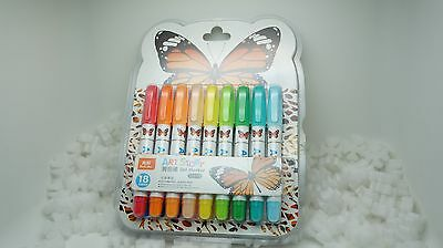 True Color Art Story Gel Marker 18 Colored Piece With Plastic Case