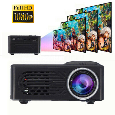 MINI Full HD 3D Video Proiettore 7000 Lumens HDMI/USB/SD/AV Home Cinema