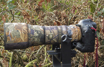 Tamron 150 600mm neoprene lens protection camouflage cover : English Oak Camo