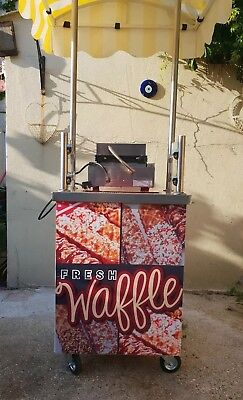 Catering cart portable mobile, comes with waffle maker, quick cash business.