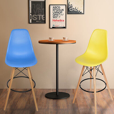 High Legs Dining Chairs Eiffel Retro Lounge Office Chair Bar Stools Kitchen UK