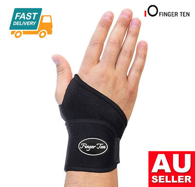 WRIST SUPPORT Brace Pain Relief Strap Wrap Carpal Tunnel Sprain Gym RSI AU Stock