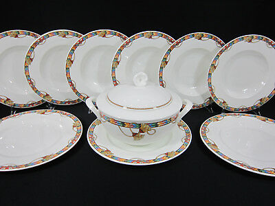 Villeroy & Boch / Messalina Bone China / 6 Pers. Suppen - Service / 10 Teile