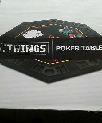 "folding poker table top 48"" / 8 players blackjack/casino table"