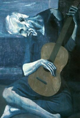 The Old Guitarist Pablo Picasso Famous Painter Classic Painting Print A3 A4