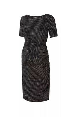 Isabella Oliver Maternity Dress Black Spot Print Size 3(12) Orig, Price £95.20
