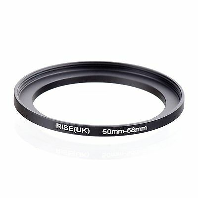 50mm-58mm  50mm to 58mm  50 - 58mm Step Up Ring Filter Adapter for Camera Lens