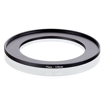 Camera 77mm Lens to 105mm Accessory Step Up Adapter Ring 77mm-105mm Black