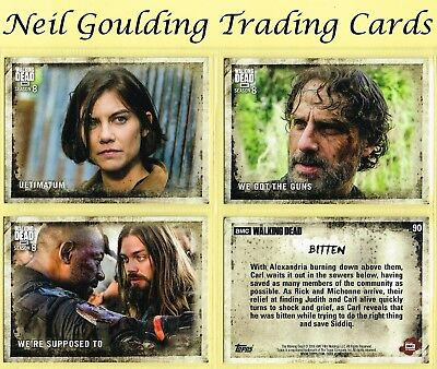 The Walking Dead - SEASON 8 PART 1 ☆ Base Cards ☆ Trading Cards #1 to #90