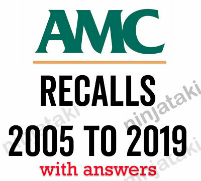 2005 to 2019 Latest AMC MCQ Australian Medical Council recalls