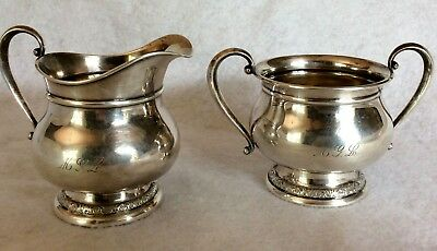International Silver Sterling Silver Prelude Creamer and Sugar Set C147