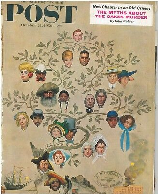 Saturday Evening Post October 24 1959 Norman Rockwell F D Roosevelt Oakes Murder