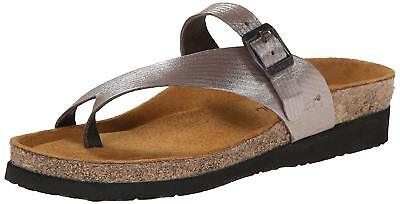 13570771cc8 Naot Women s Tahoe Toe Ring Sandal-Silver Threads Leather EURO SIZE 36
