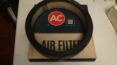 AC DELCO AIR FILTER N.O.S A212CW  #6421746 NOS IN ORIGINAL BOX 65-72 chevy Buick