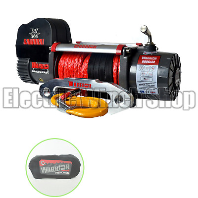 Warrior Samurai S8000 12v Winch with Synthetic Rope & Winch Cover