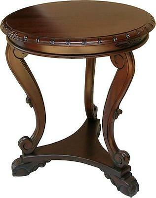 Solid Mahogany Regency Low Side Table Antique Reproduction NEW T017